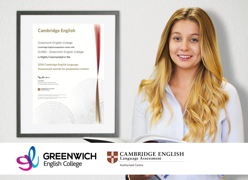 Greenwich English College Highly Commended in the 2016 Cambridge English Language Assessment Awards